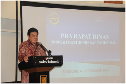 Pra Rapat Dinas Inspektorat Jenderal Kementerian Perhubungan Tahun 2012