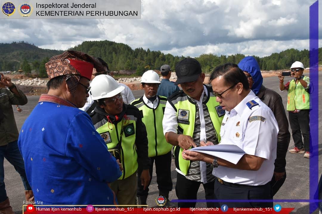 Peninjauan Progres Pembangunan Bandar Udara Buntu Kunik oleh Plt. Inspektur Jenderal