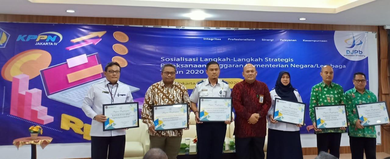 KPPN Jakarta IV Berikan Apresiasi kepada ITJEN Kemenhub dalam Pelaksanaan Anggaran Tahun 2019